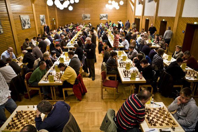 Der Turniersaal beim Herbstopen